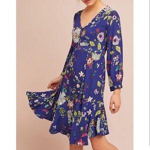 Anthropologie Maplewood Floral Dress